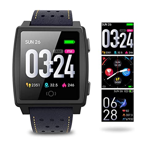 Amazon.com: DLIBIG Fitness Smartwatch IP67 Waterproof ...