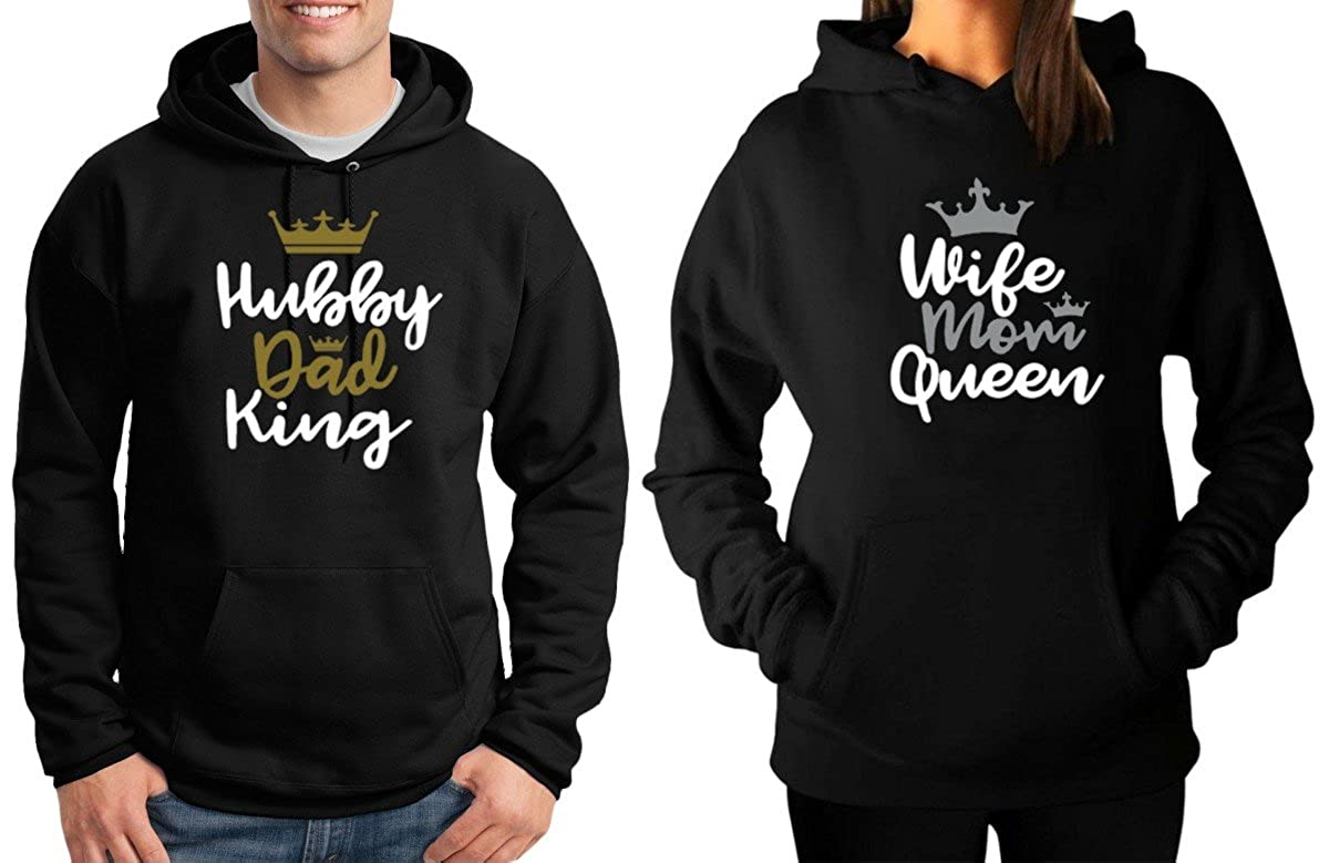 Couples Hubby-Wife Black Hoodies