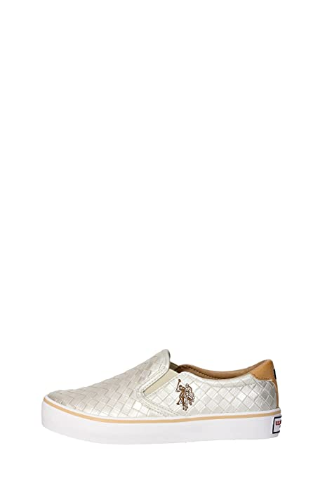 US Polo Association - Zapatillas de Deporte para Mujer, Dorado (Or ...