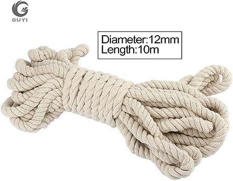 HYZKJ Cuerda 5-20 Mm Cordón De Algodón Natural Color Cordón De ...