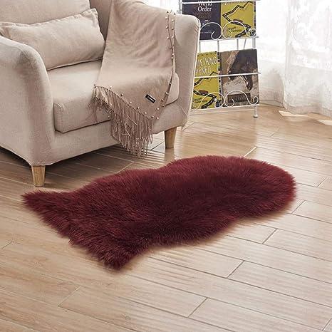 Amazon.com: Cojín de lana artificial para sofá de oveja ...