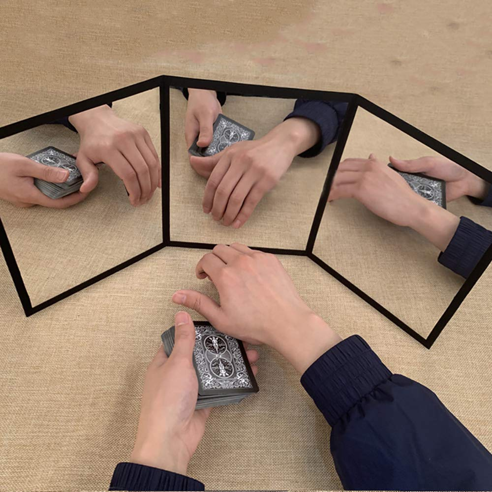 Enjoyer 3-Way Mirror by Sean Yang Practicing Mirror for Card Magic Gimmick Magic Tricks Magician Accessories Stage Illusions by Enjoyer (Image #4)