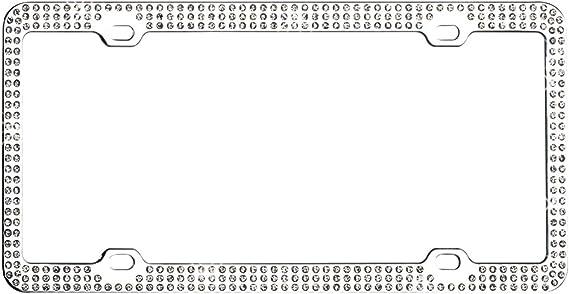 Valor LPF2HC005PNK Design License Plate Frame with Crystals