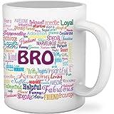 TIED RIBBONS Bro Printed Ceramic 325ml Coffee Mug(White)