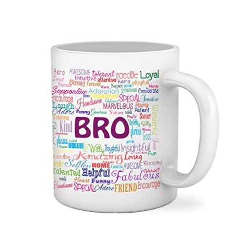 Tied Ribbons Ceramic Bro Printed Coffee Mug 325 Ml White