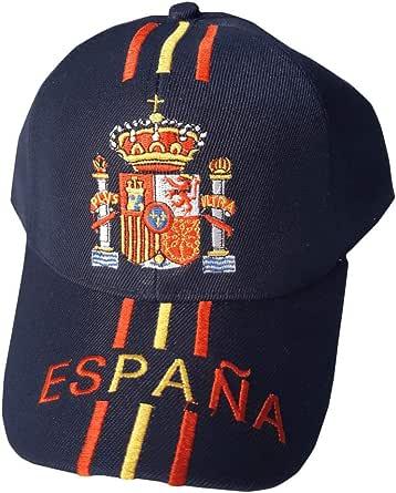 Gorra de España color negro con escudo bordado - Talla adulto ...