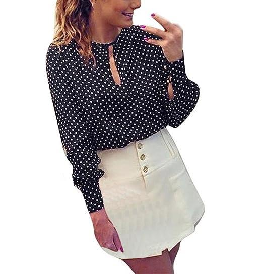 grande vendita 8dc6b f85f9 Camicia Donna Elegante Chiffon Primavera Estate Camicette Manica ...