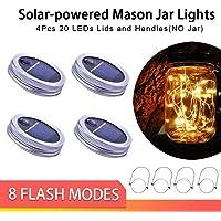 4-Pack XDW-Gifts Upgraded LED Solar Mason Jar Lid Lights