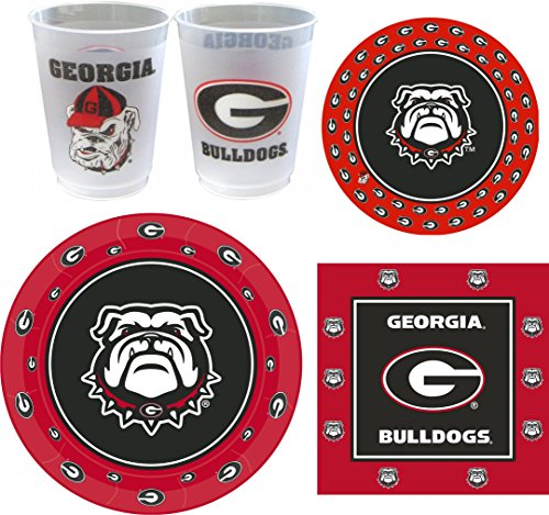Westrick Georgia Bulldogs Party Supplies - 105 Pieces (Serves 24) -