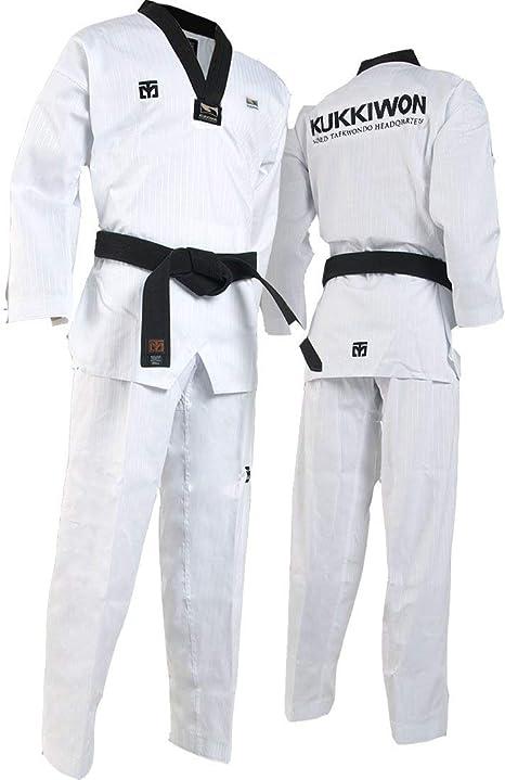 MTX Basic Uniform Black Neck S2 Mooto Dan Doboks Suits WT Martial Arts Taekwondo