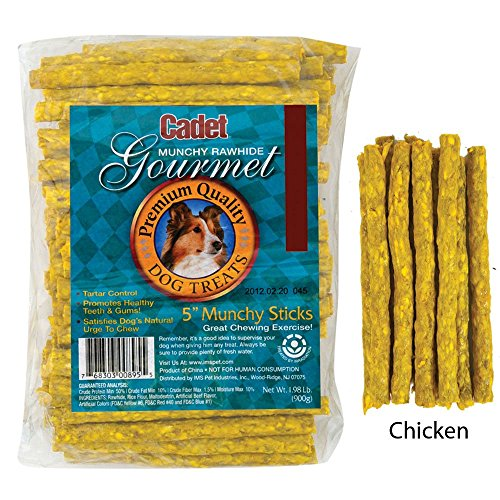Trading Corp Rawhide - (Pack of 2) Cadet 100-Pack Munchy Chicken Stick, 5-Inch by 9-10mm