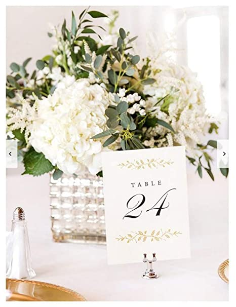 Amazon.com: Wedding Table Numbers | Elegant 1-24 Double Sided Pearl ...