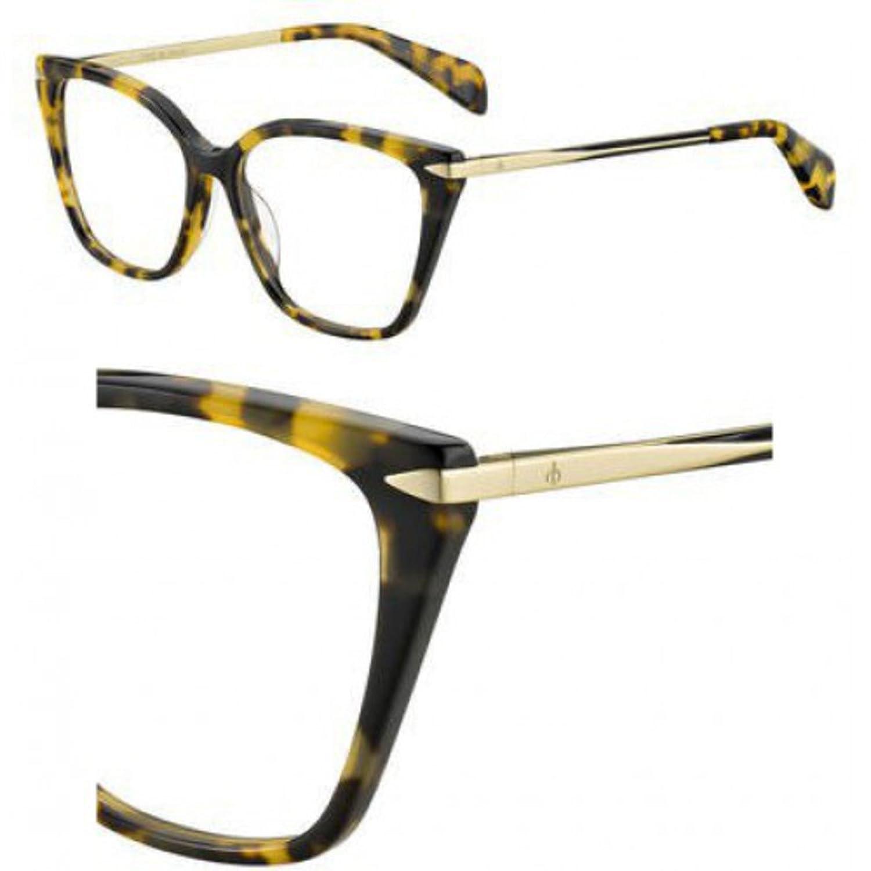 Gold Eyeglasses Rag /& Bone Rnb 3005 0LVL Brown Havana