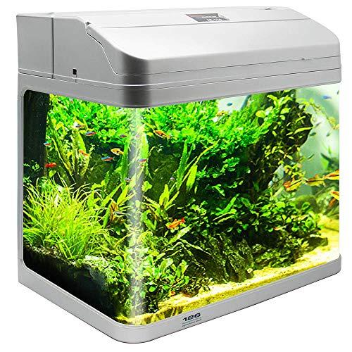 BPS Kit de Acuario con Iluminación LED Bomba Filtro y Accesorios para Pecera Peces (L: 38x26x47 cm, Plata) BPS-6005PL: Amazon.es: Productos para mascotas
