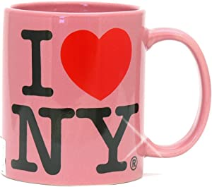 I Love NY Pink 11 oz Coffee Mug, Microwave and Dishwasher Safe