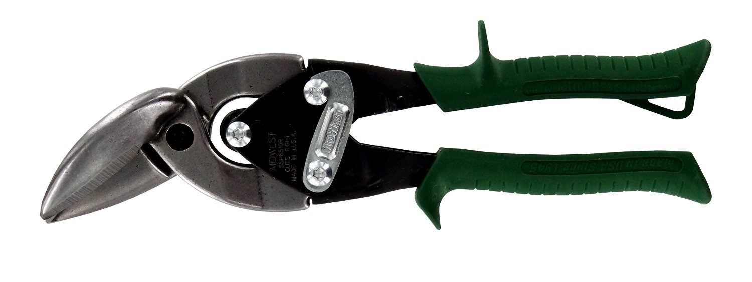 Midwest Tools and Cutlery MWT-SS6510R Snips Forged Blade Special Hardness Offset Right Aviation Snip, Cuts Stainless Steel