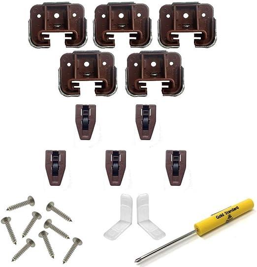 6 Sets Dresser Drawer Replacement Part Guide Glide Stop Socket Kenlin RiteTrak
