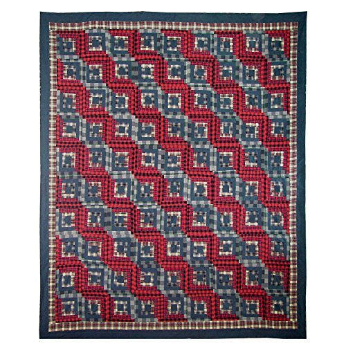 Patch Magic Twin Red Log Cabin Duvet Cover, 70-Inch by 88-Inch (Patch Magic Twin Quilts compare prices)
