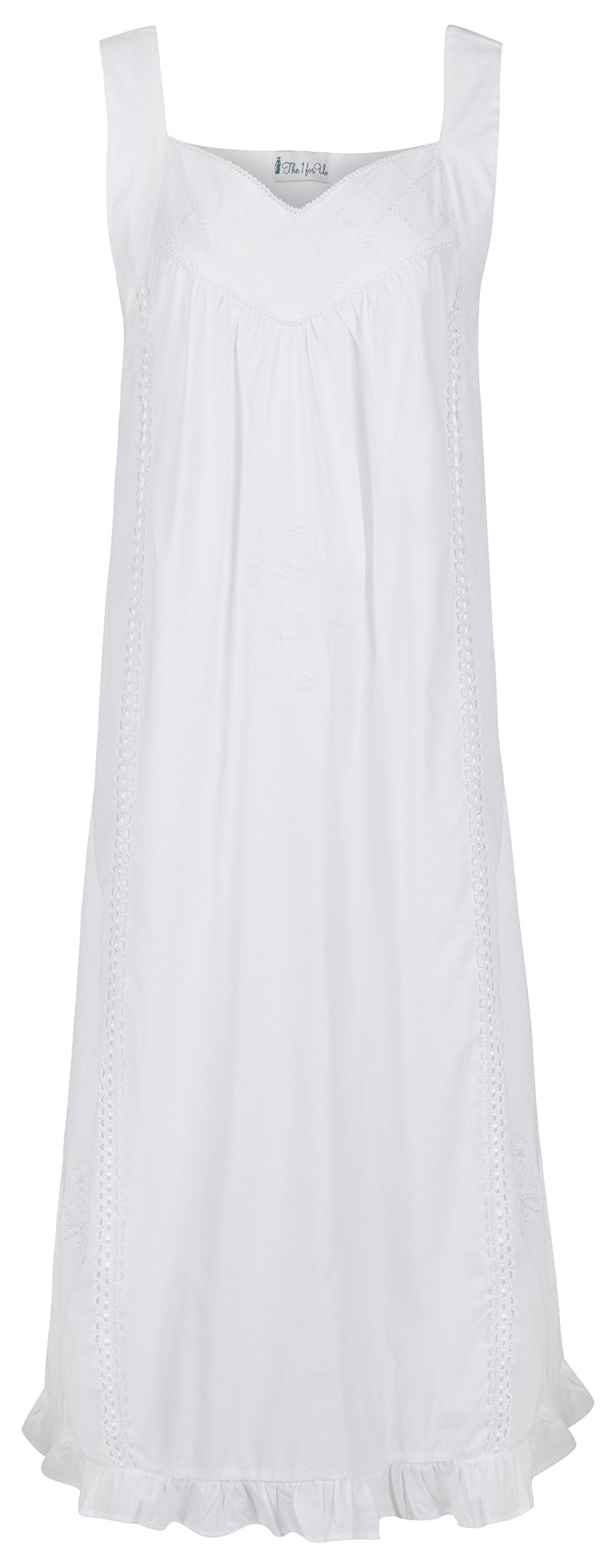 The 1 for U 100% Cotton Nightgown Vintage Design - Nancy (XL)