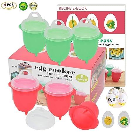 Huevera de microondas para huevos duros hervidos, huevos como se ...