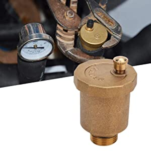"""Automatic Air Vent Valve, G1/2"""" Male Thread Air Vent Exhaust Valve, Brass Automatic One Way Air Vent Valve, Brass, Corrosion Resistant, Durable"""