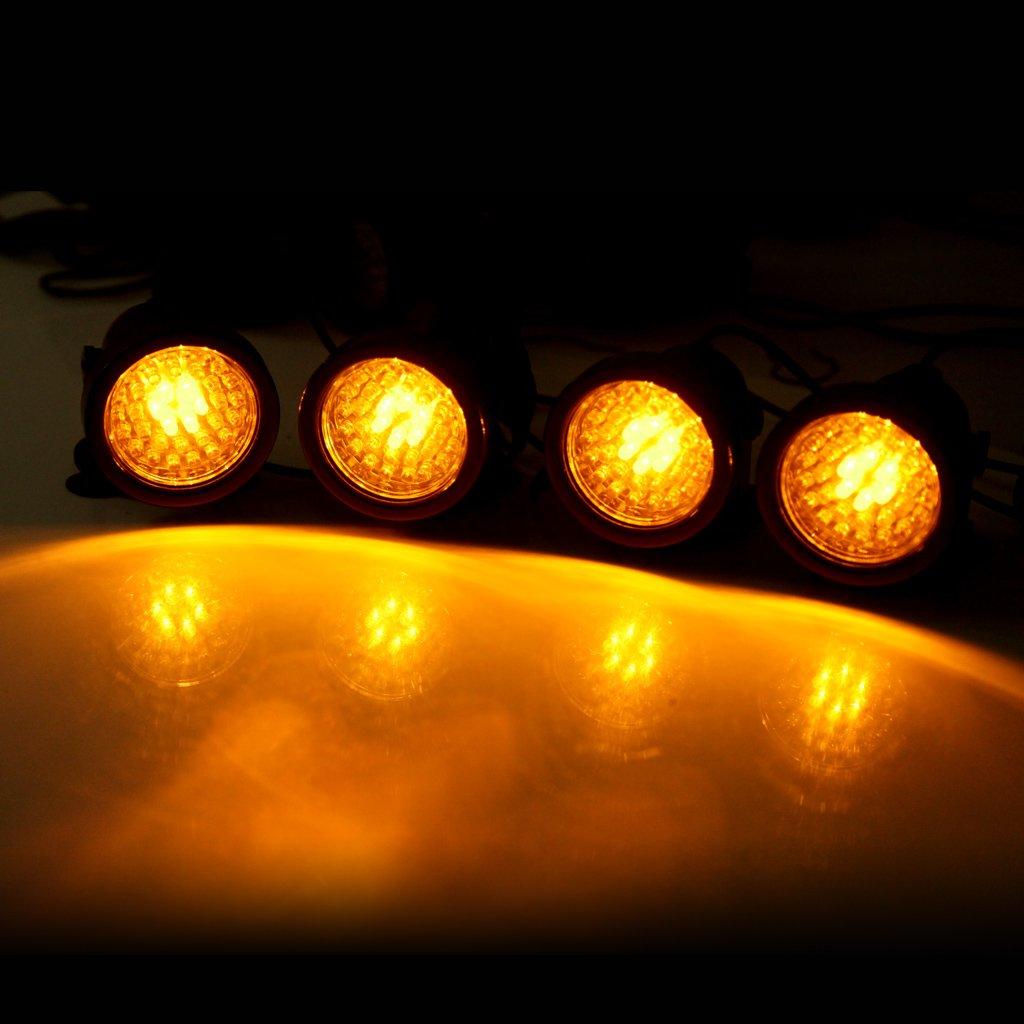 Paquete 4 Lámpara Acuario Sumergible Submarino (7.3W, 36 LED, Luz Multicolor, IP68 Impermeable, 180 Grados Ajustable, con Ventosa) Iluminación para Pecera: ...