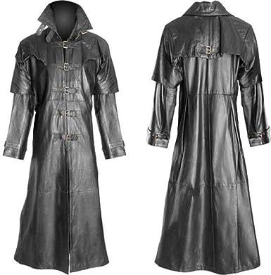 Women PU Leather Flight Bomber Jacket Vintage Zip Up Coat Steampunk Gothic Coat