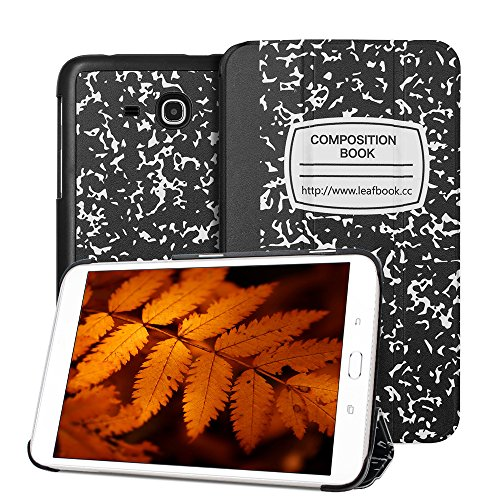 Samsung Galaxy Tab 3 Lite Case- Leafbook Samsung GalaxyTab E Case Ultra Slim Stand Cover Case For Samsung (Tablet 3 Samsung Case)