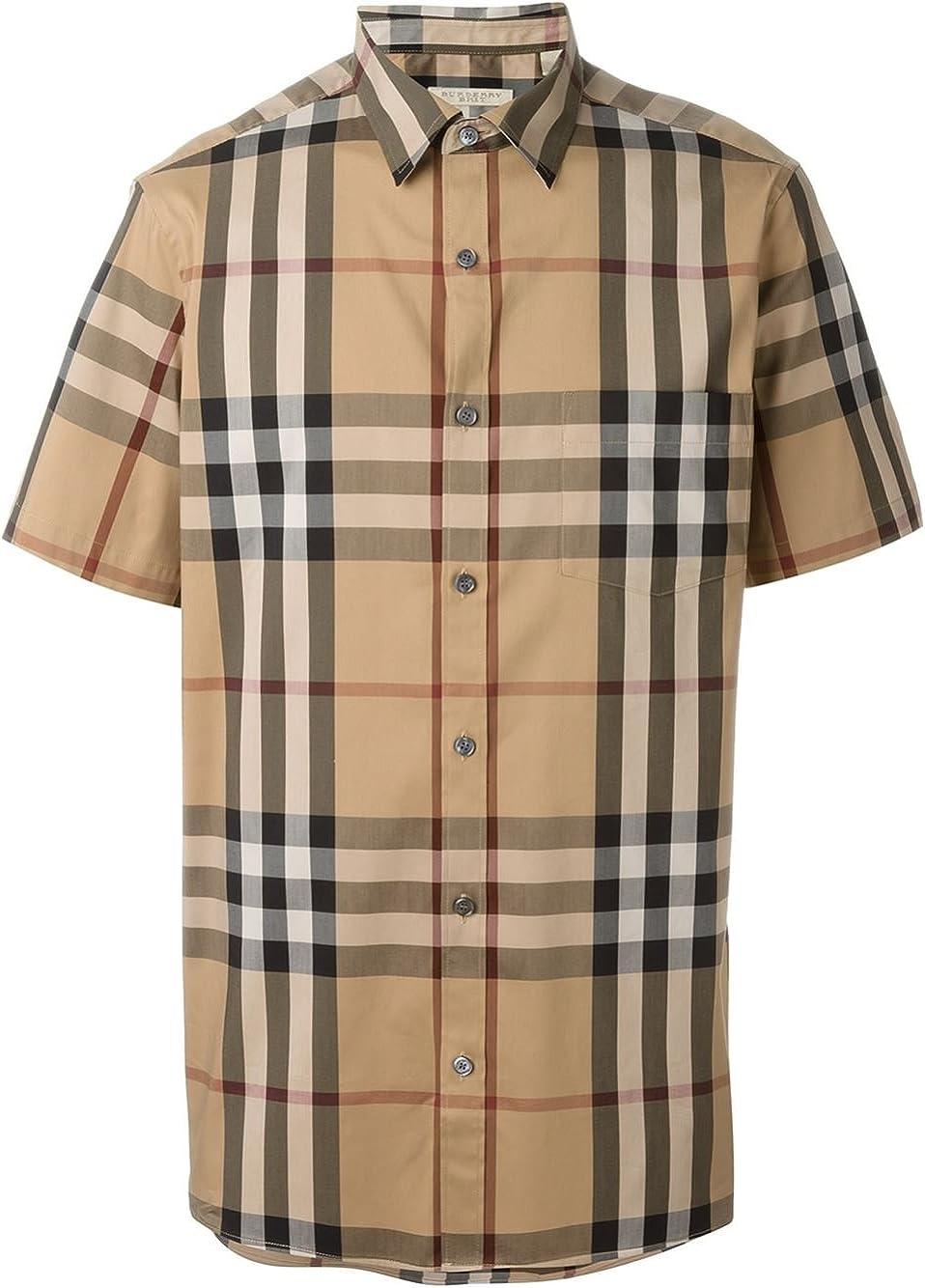 Burberry Brit Nelson Camel - Camisa de Cuadros para Hombre (Talla M): Amazon.es: Ropa y accesorios