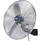 Deluxe Oscillating Wall Mount Fan, 30 Diameter, 1/2hp, 10,000cfm