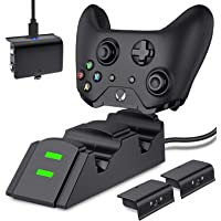 Controller Charger Station for Xbox One, Xbox One X, Xbox One S, Xbox One Elite Controller with 2x1200mAh Rechargeable Batteries Packs, Battery Pack Compatible with Xbox One Controller Charger€¦