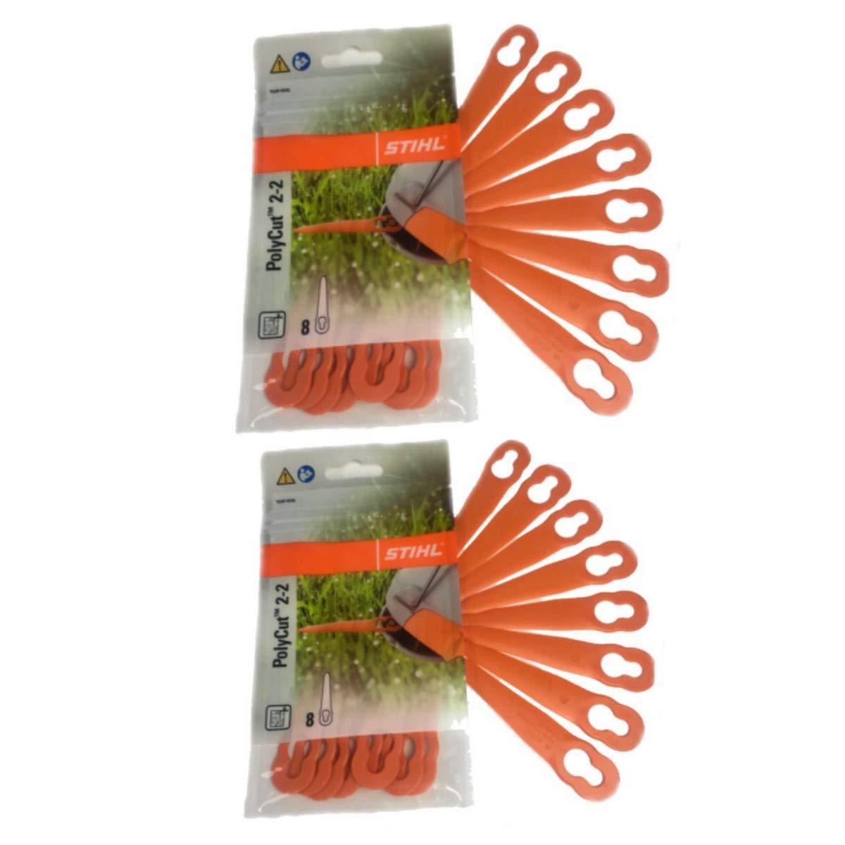 STIHL POLYCUT 2-2 COLTELLO PLASTICA PER FSA 45 tagliaerba 2 Pack (16 STÜ CK) STlHL