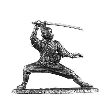 Amazon.com: Ninja Shinobi Estaño Metal Tamaño de 54 mm de ...