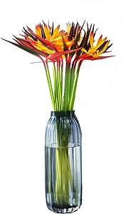 Warmter Artificial Flowers 5 Pcs Elegant Bird of Paradise Tropical Imitation Plant Flower Bouquets for Home Party Decorations