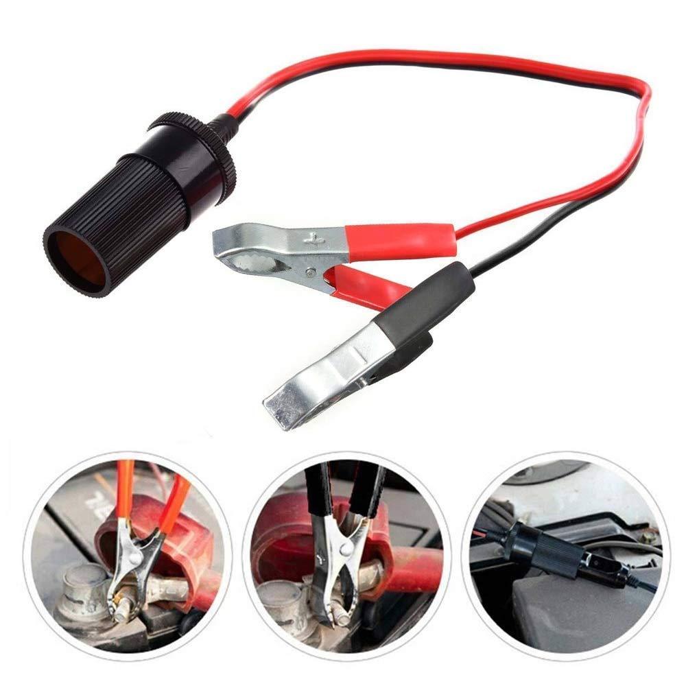 caricabatteria per auto accendisigari con adattatore accendisigari con 1m lunghezza accendisigari cavo di prolunga 2pcs accendisigari per coccodrillo
