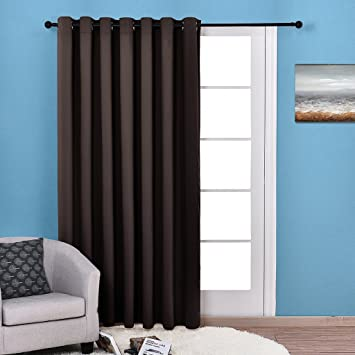 Lovely NICETOWN Wide Thermal Blackout Patio Door Curtain Panel, Sliding Door  Insulated Curtain, Grommet Top
