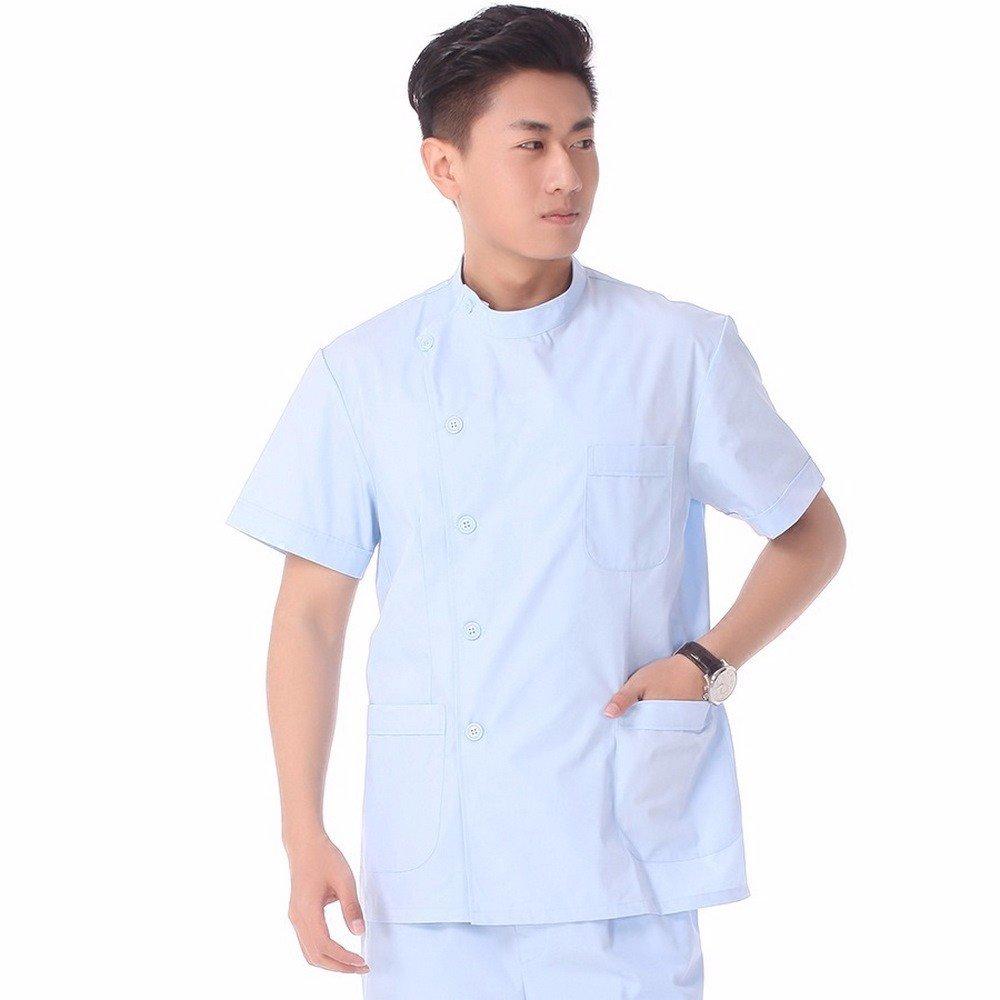 Xuanku Medical Abrigo Blanco; Doctor Hombre Manga Corta De Boca Dividida;;; Odontología; Uso Médico, M, Azul: Amazon.es: Ropa y accesorios
