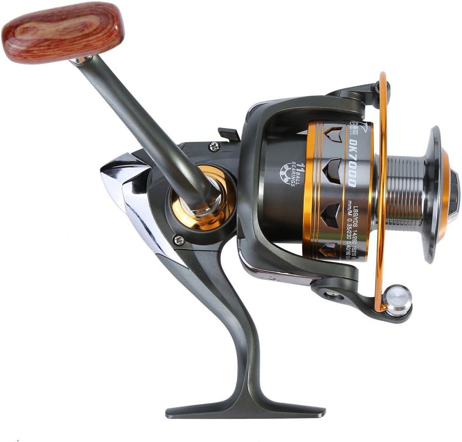 Spinning Carretes de pesca, metal anticorrosión Smooth casting Mar ...