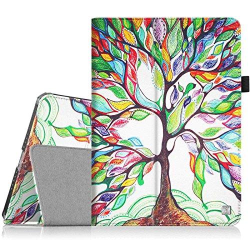Fintie iPad Mini 4 Case - Premium Vegan Leather Folio Case Smart Stand Protective Cover with Auto Sleep/Wake Feature for Apple iPad Mini 4 Released on 2015, Love Tree