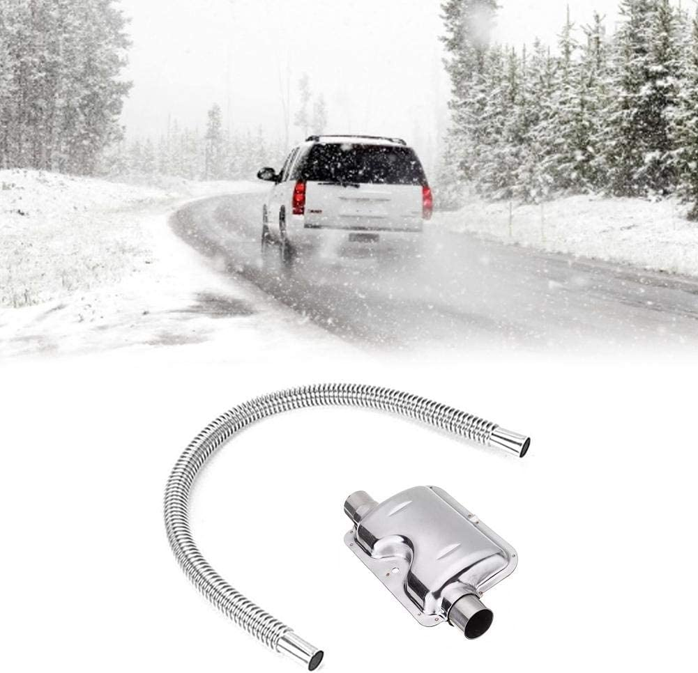 Silenciador de tubo de escape, 120 cm, acero del, silenciador, tubo de ventilación de gas, silenciador para calefacción de aire de coche diésel para calefacción de aire de estacionamiento diésel