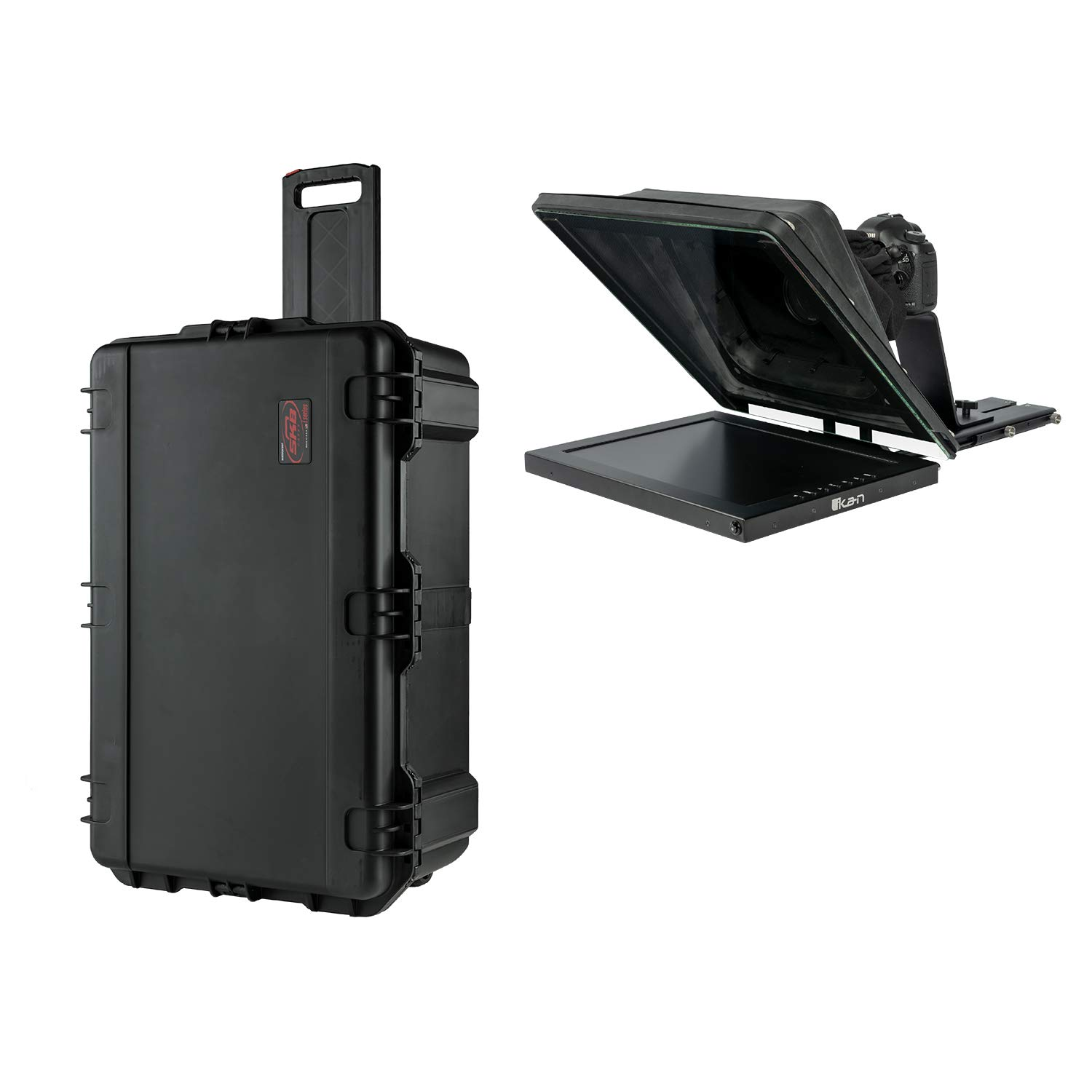 Ikan Professional 17'' High Bright Beam Splitter 70/30 Glass Teleprompter Kit with Travel Case (PT4700-TK) by Ikan