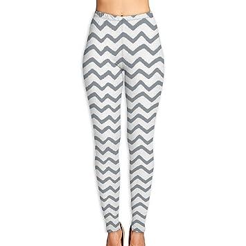 cleaer Grey Gray Marker Chevron High Waist Yoga Pants Tummy ...