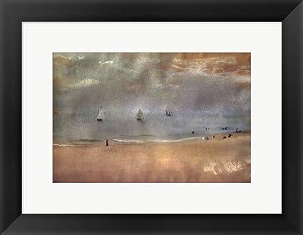 Amazon.com: Beach Landscape by Edgar Degas Framed Art Print Wall ...