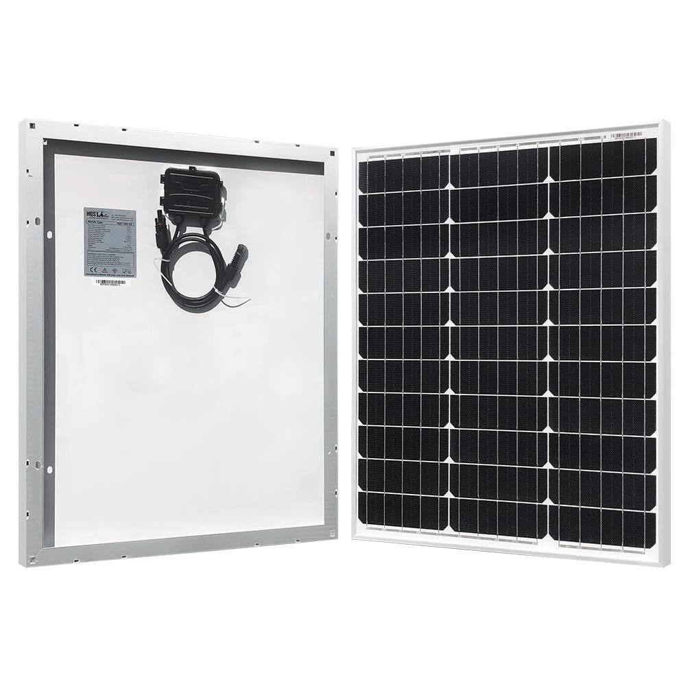 HQST 50 Watt 12 Volt Monocrystalline Solar Panel for RV/Boat/Other Off Grid Applications(50W Compact Design)