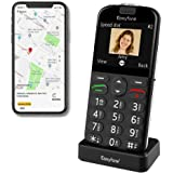Easyfone Prime-A4 GPS Localisation Unlocked Smart Senior Cell Phone, Big Button Hearing Aids Compatible Easy-to-Use…