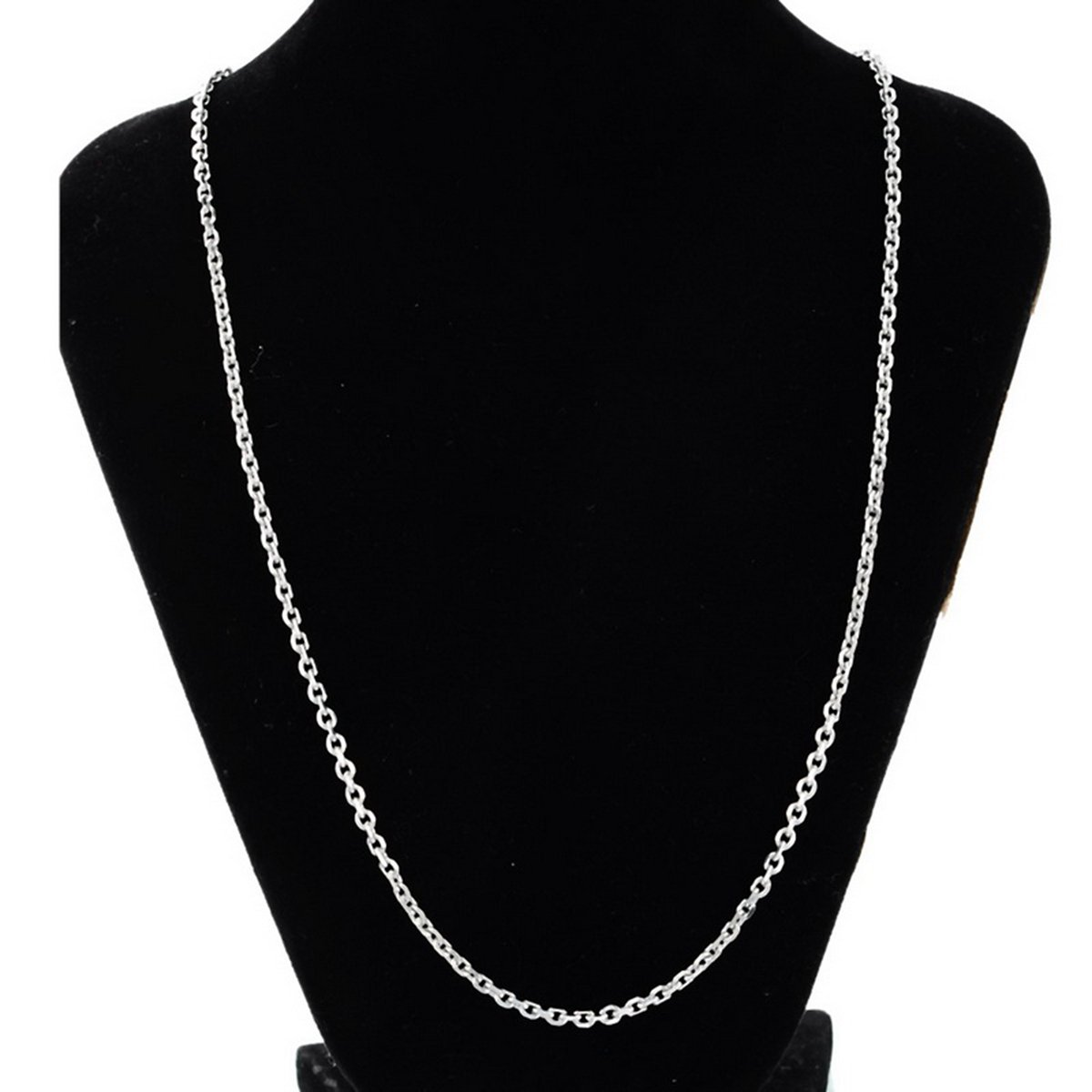 HooAMI Edelstahlkette Twist-Ketten-Halskette 45cmx2.5mm