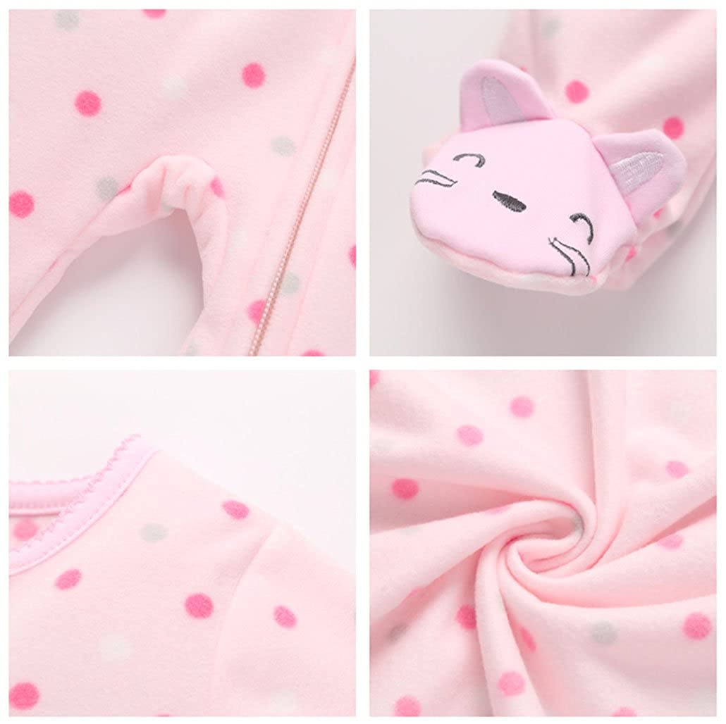 Girl Clothing Pink Rabbit New Born Baby Clothes one Pieces Pajamas Fleece Newborn Jumpsuit Costume