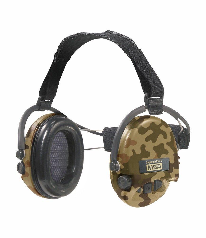 MSA Sordin Supreme Pro X - Neckband - CAMO Edition - Electronic Earmuff, slim-design (foam-seals)