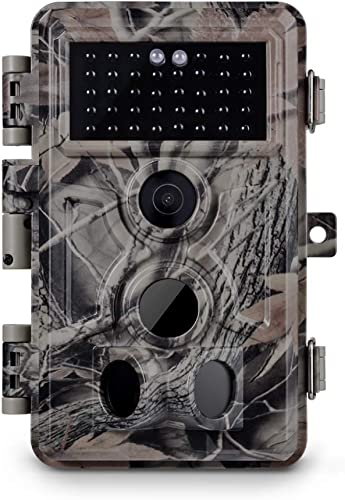 "Meidase Trail Camera 16MP 1080P, Game Camera with No Glow Night Vision Up to 65ft, 0.2s Trigger Time Motion Activated, Unique Keypad, 2.4"" Color Screen..."