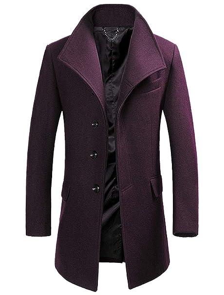 Cappotto lungo classic monopetto a tre bottoni